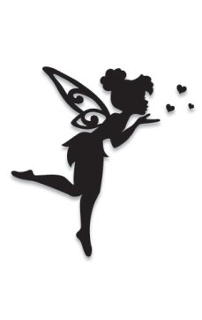 Tinkerbell blowing kisses large gold n gifts bay of for Black and white tinkerbell